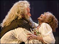 Simon Callow and Judi Dench in Merry Wives - The Musical (photo Stewart Hemley)