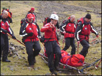 Scafell rescue (courtesy of Wasdale Mountain Rescue)