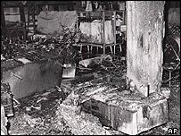 Baader comenzó su campaña con atentados en Fráncfort.