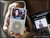 An iPod showing scene from Desperate Housewives