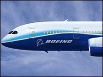 Artist's impression of Boeing 787