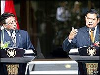 Musharraf in Indonesia