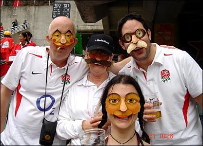 Ali White's England fans
