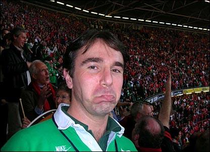 Harry Smyth's lone Irishman in a sea of red
