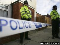 Police on duty in Birmingham