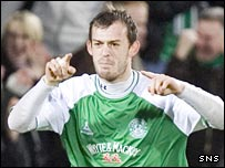 Steven Fletcher celebrates scoring against St Johnstone