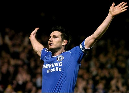 Chelsea's Frank Lampard celebrates his goal