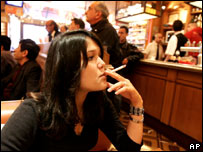 A girl in a Paris cafe (file image)