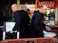 Police at a shop