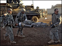 US wounded in Baghdad