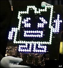The electronic sign that caused the Boston scare
