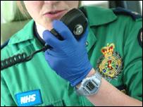 Paramedic on radio