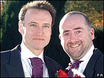 Andrew Wincott and Stephen Kennedy play Adam Macy and Stephen Kennedy in The Archers