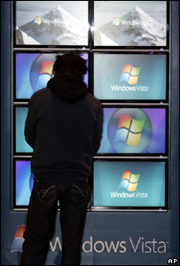 Windows Vista on display, AP