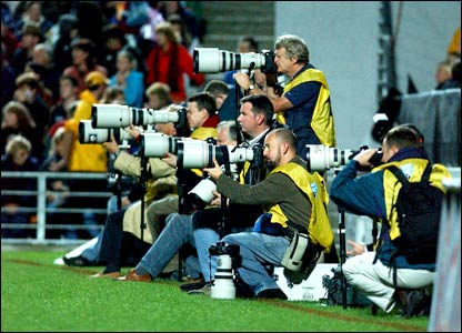 Photographers get in on the action