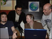 The people behind the project (Left to right: Rik Saunderson, Farooq Siddique, Amer Salman, Peter Brill)