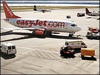 Easyjet plane at Liverpool airport