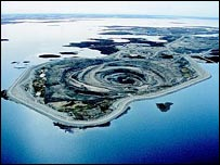Rio Tinto diamond mine in Canada