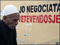 Ethnic Albanian man in Pristina