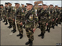 French soldiers in Kosovo