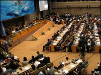 Delegates at a UN climate conference (Image: AP)