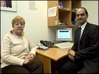 Yvonne Bennett and Dr Dr Amir Hannan