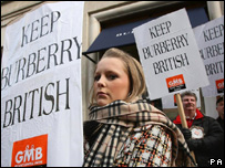 A protest last Saturday outside a Burberry store in London