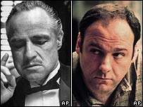 Don Vito Corleone and Tony Soprano