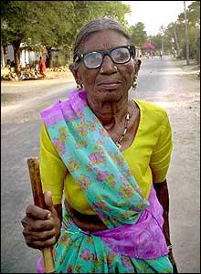 An old woman in Kalleda