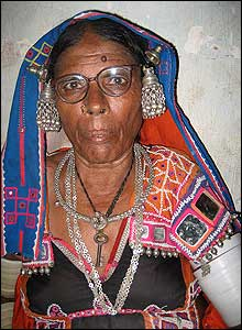 Tribal woman in traditional dress