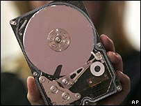 One terabyte hard drive