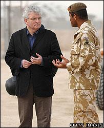 UK Defence Secretary Des Browne in Basra