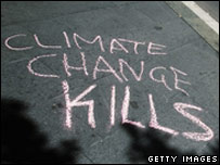Climate Change Kills graffiti