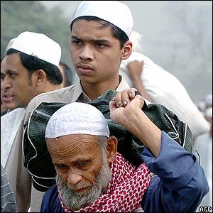Man at Bangladesh festival