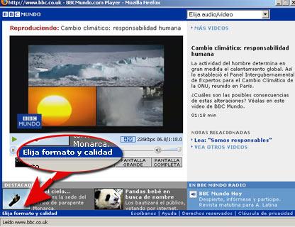 Consola de videos de BBC Mundo