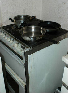 Metropolitan Police handout photo showing kitchen at Curtis House, New Southgate