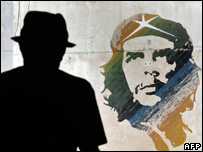 Mural of Che Guevara, AFP/Getty