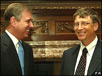 HRH Duke of York and Bill Gates