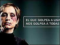 Afiche de campaña contra la violencia de género.