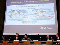 Presentación del IPCC en París.