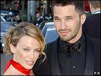 Kylie Minogue and Olivier Martinez in 2003