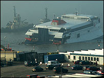 The Sea Express One (Pic sent in by BBC News website user Paul Freeman)
