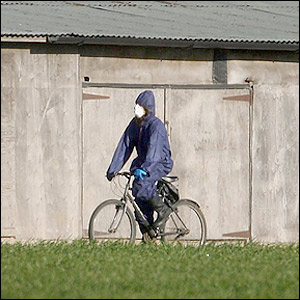 A person in protective clothing