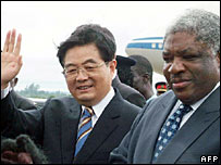 Hu Jintao and Levy Mwanawasa