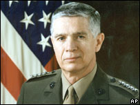 Gen Joseph Hoar, a former commander-in-chief, US Central Command