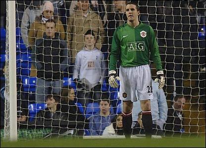 John O'Shea in goal