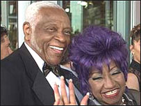 Pedro Knight y Celia Cruz.