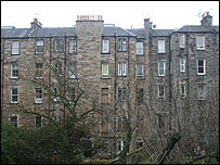 Edinburgh tenement flats