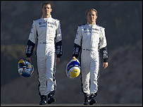 Williams drivers Alexander Wurz and Nico Rosberg