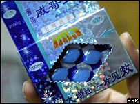 Chinese packet of Viagra